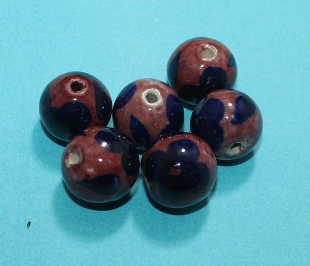 20 Pcs Ceramic Round Beads 19mm