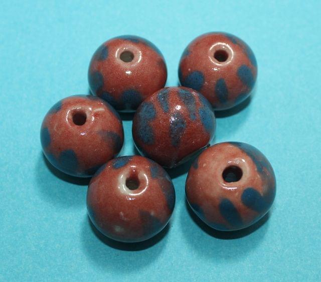 50 Pcs Ceramic Round Beads 12mm