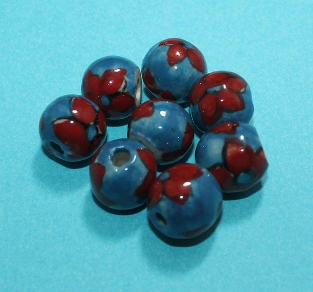 50 Pcs Ceramic Round Beads 16mm