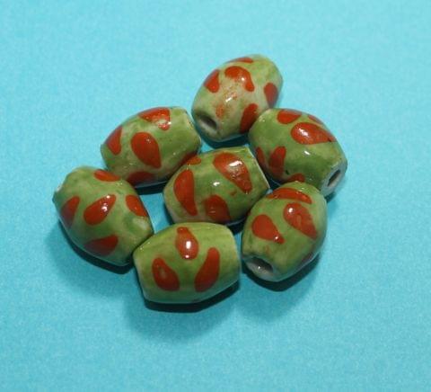50 Pcs Ceramic Oval Beads 19x14 mm