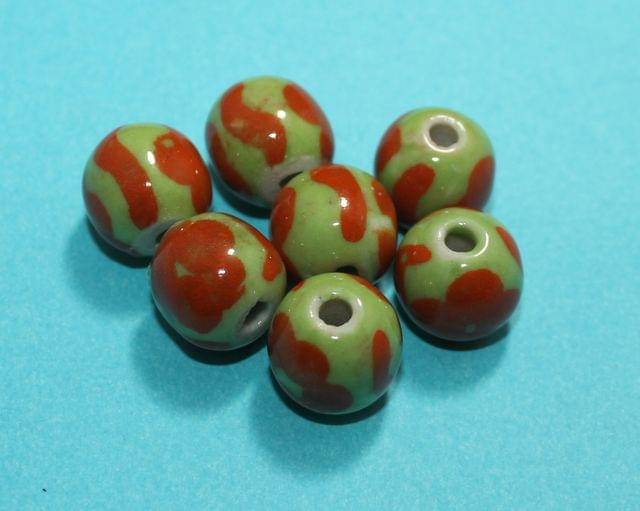 20 Pcs Ceramic Round Beads 16mm