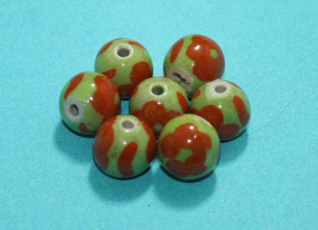 50 Pcs Ceramic Round Beads 13mm