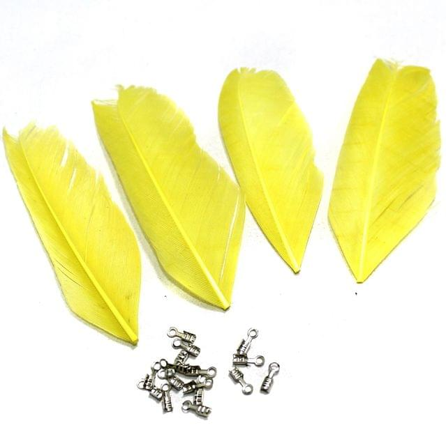 80+ Premium Jewellery Making Feathers Yellow