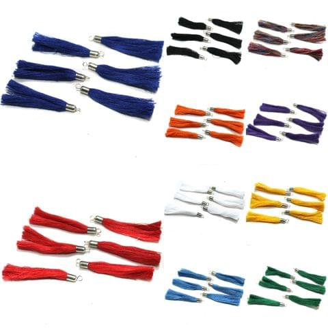 100 Pcs Cotton Thread Tassels Assorted Colors Combo, Size 2 Inches