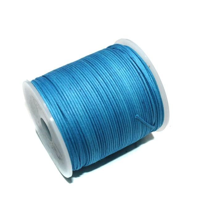 100 Mtrs Jewellery Making Cotton Cord Turquoise 1mm