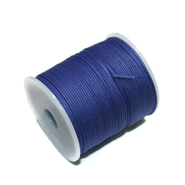 100 Mtrs Jewellery Making Cotton Cord Blue 1mm