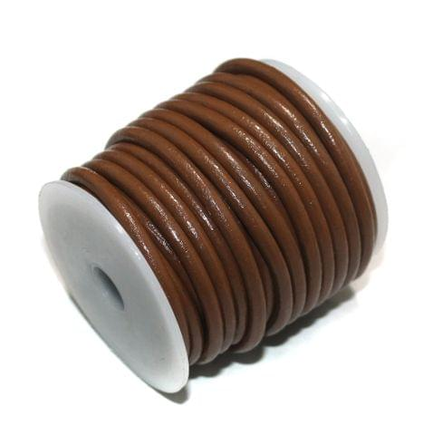 10 Mtrs Jewellery Making Leather Cord Brown 4mm