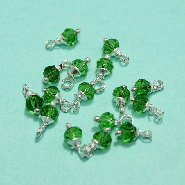 100 Pcs Green Faceted Loreal Beads Rondelle 8mm