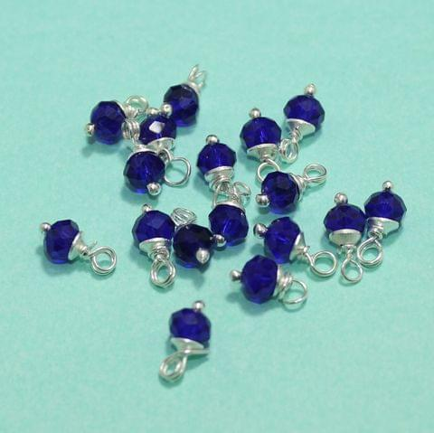 100 pCS Blue Faceted Loreal Beads Rondelle  8mm