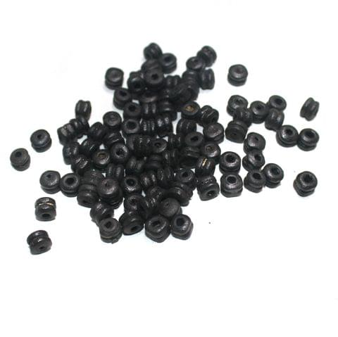 50 Gm Donut Antique Wooden Beads, Size 6x4mm