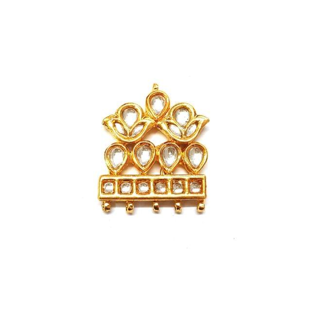1 pc, Kundan Spacer, 3.5 cm