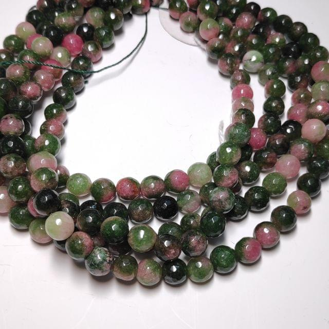 8 mm Agate Beads Semiprecious Faceted Round Agates 2 Strings