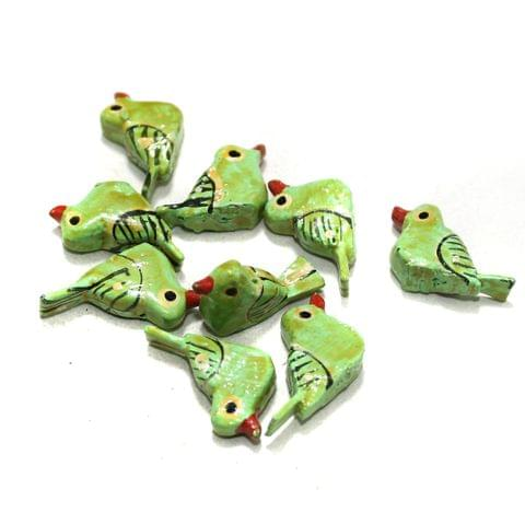50 Pcs Birds Wooden Beads, Size 1.25 Inches
