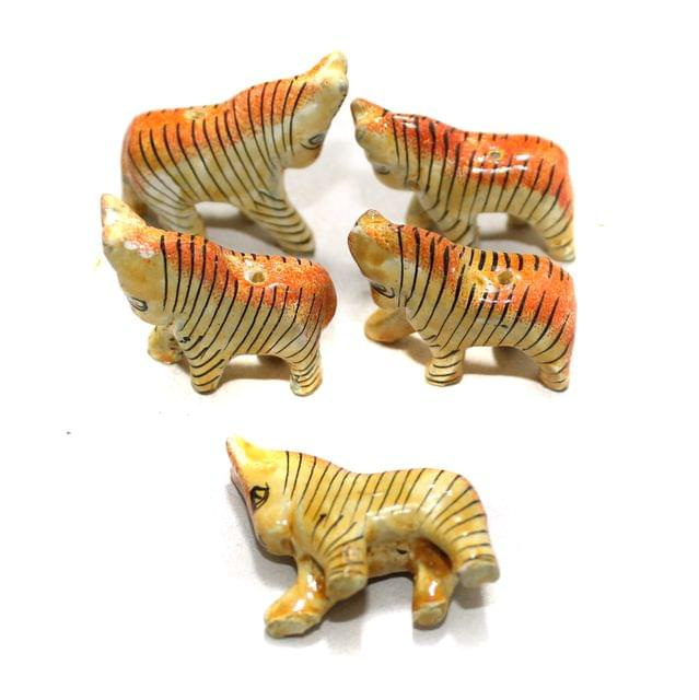 50 Pcs Horse Wooden Beads, Size 1.25 Inches