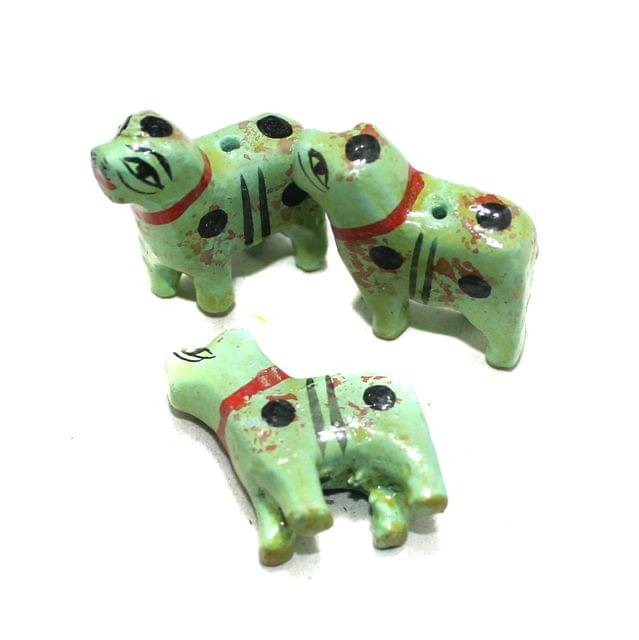 50 Pcs Dog Wooden Beads, Size 1 Inches