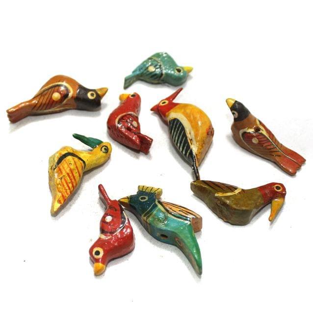 50 Pcs Birds Wooden Beads Assorted Size