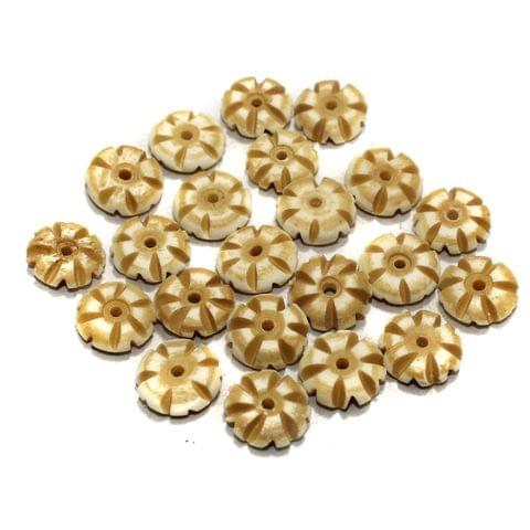 100 Pcs Do Nut Bone Beads 11mm