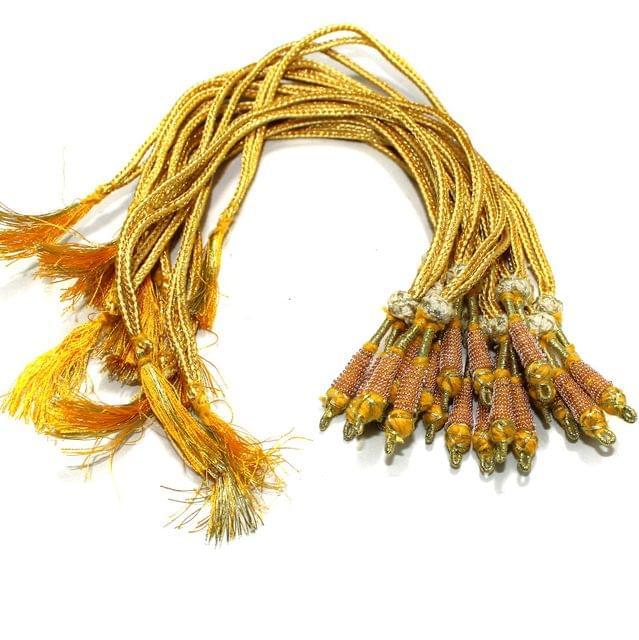 12 Pcs Zari Backrope Necklace Dori Golden
