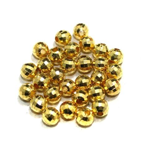 500 Pcs Golden Faceted CCB Beads 10mm