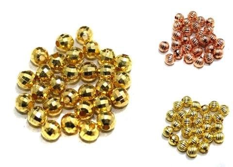 300 Pcs Golden Faceted CCB Beads 6mm