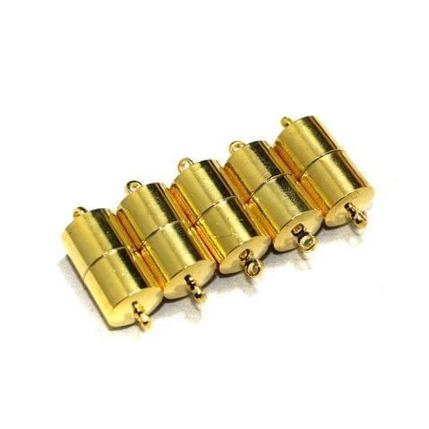 5 Pcs Magnetic Clasps Golden, Size 28x10mm