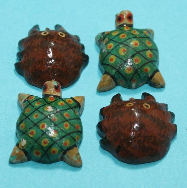 20 Pcs Turtles Wooden Beads,Size 1.25 Inches