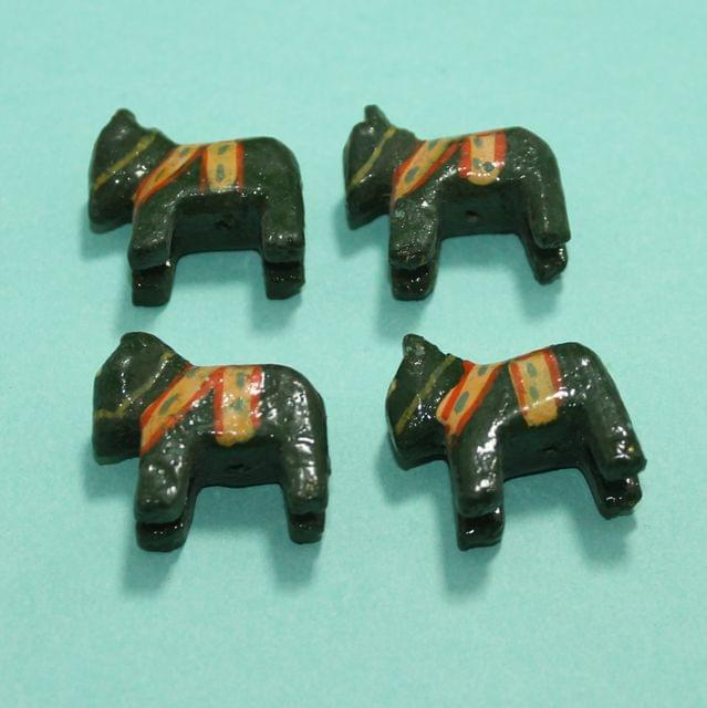 47 Pcs Horse Wooden Beads,Size 1.25 Inches