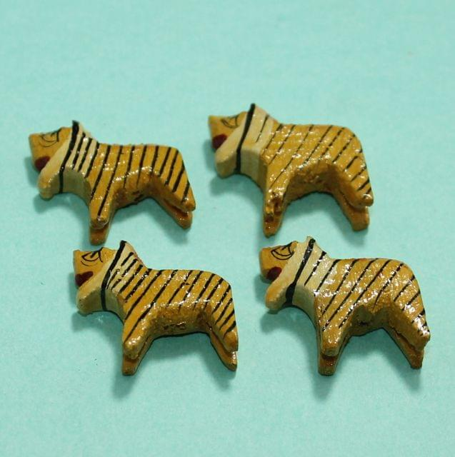 32 Pcs lions Wooden Beads,Size 1.25 Inches