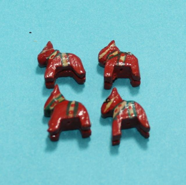 30 Pcs Horse Wooden Beads,Size 0.75 Inches