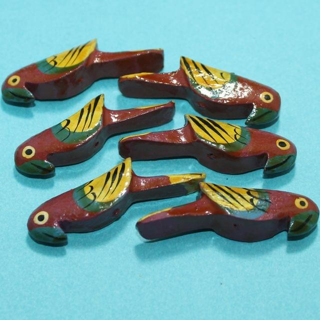 25 Pcs Parrots Wooden Beads,Size 2 Inches