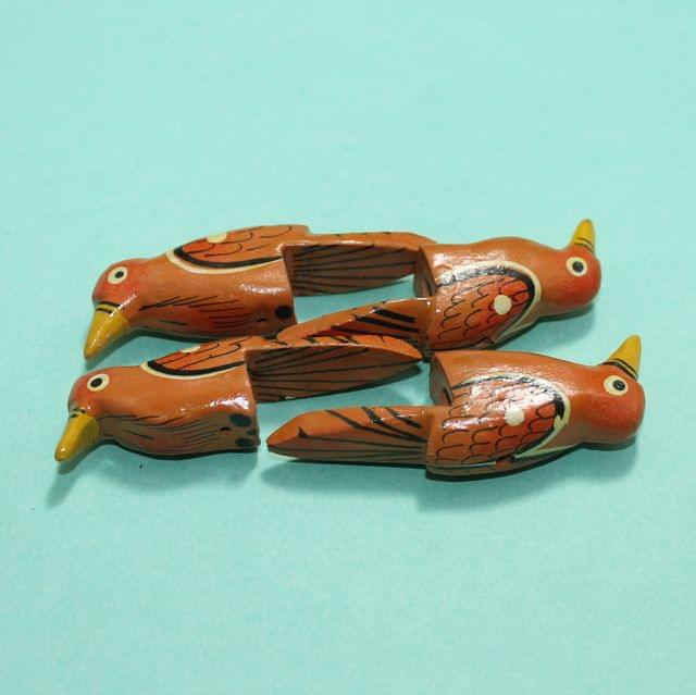 22 Pcs Parrots Wooden Beads,Size 2.25 Inches