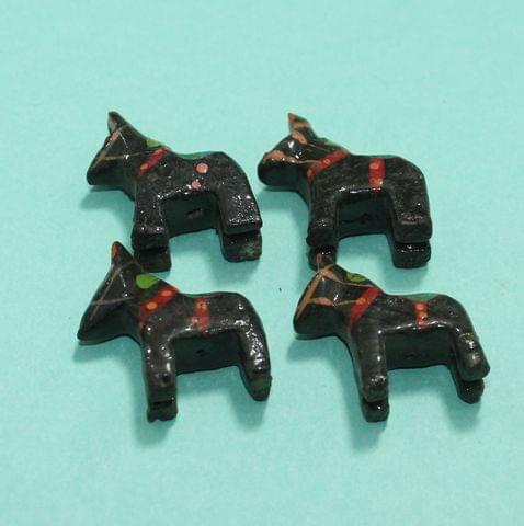25 Pcs Horse Wooden Beads,Size 2.25 Inches
