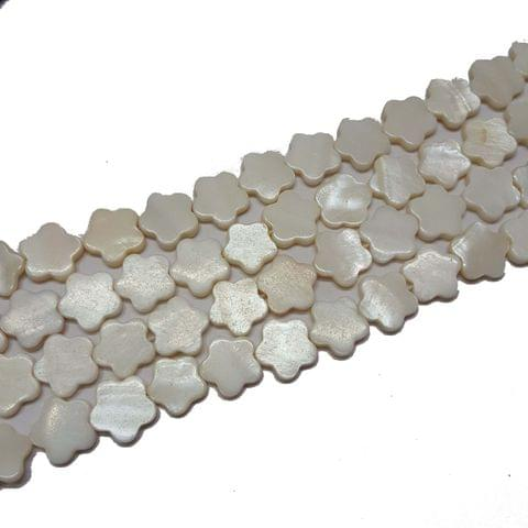 15mm, 2 strands, Mother Of Pearls Shell, 14 inches