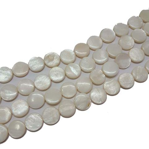 12mm, 2 strands, Mother Of Pearls Shell, 14 inches