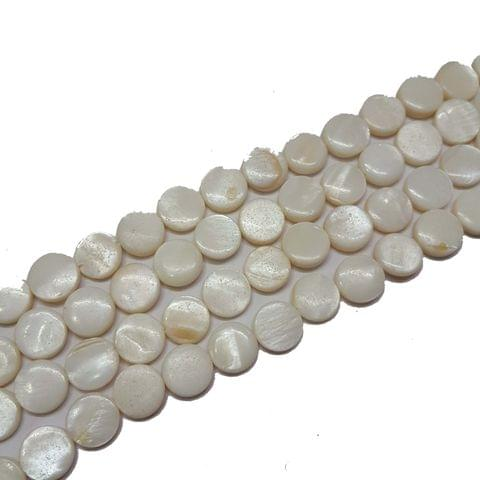 10mm, 2 strands, Mother Of Pearls Shell, 14 inches