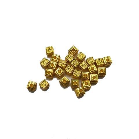 5mm, 30pcs, Designer Metal Beads