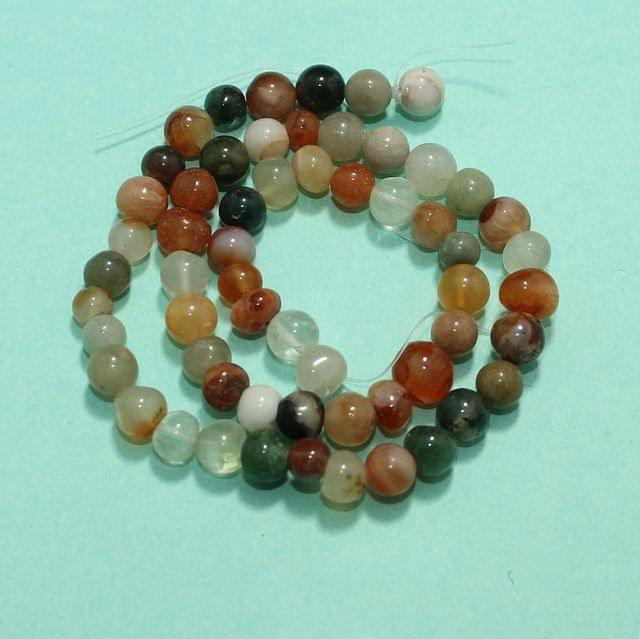 Round MultiColor Onyx Stone Beads 6 mm