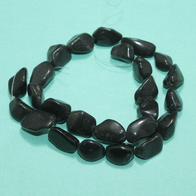 Tumble Black Onyx Stone Beads 14-19 mm