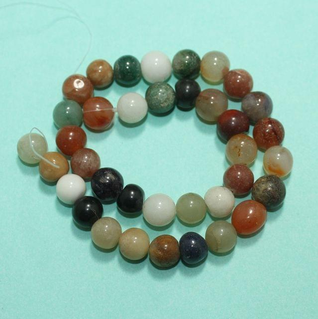 Round MultiColor Onyx Stone Beads 11 mm