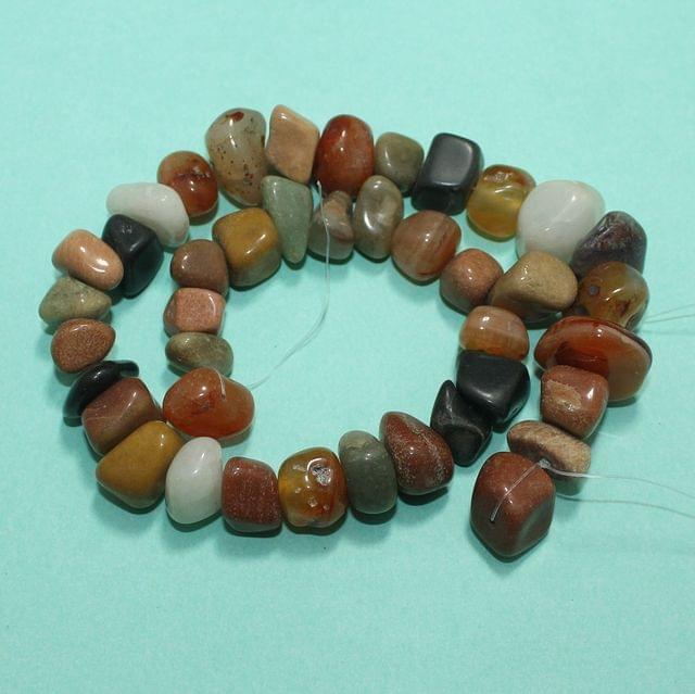 Tumble MultiColor Onyx Stone Beads 9-13 mm