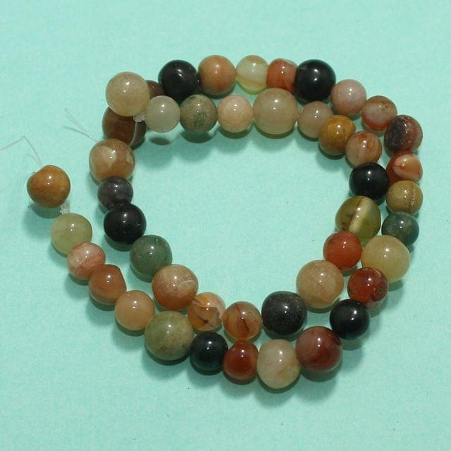 Round MultiColor Onyx Stone Beads 8-11 mm