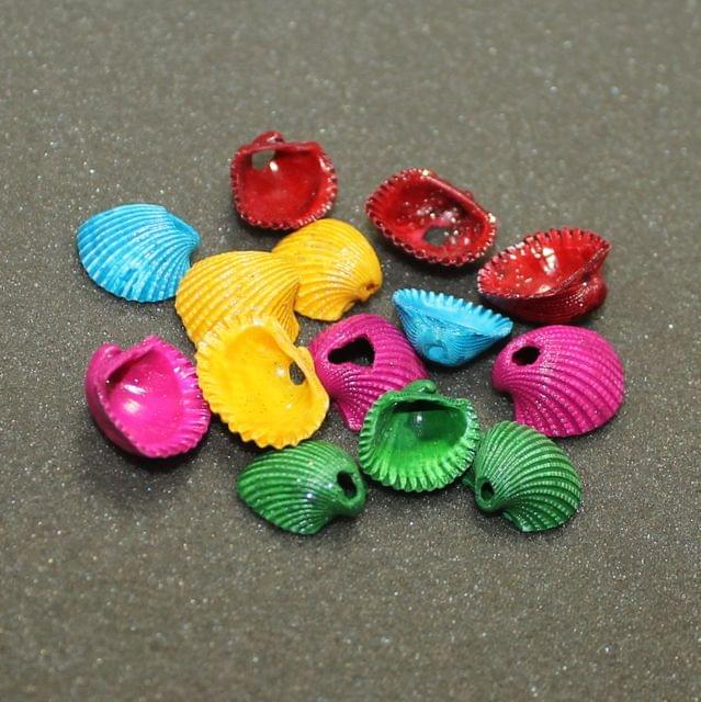 100 Pcs Acrylic Shell Bead MultiColor 19x16 mm