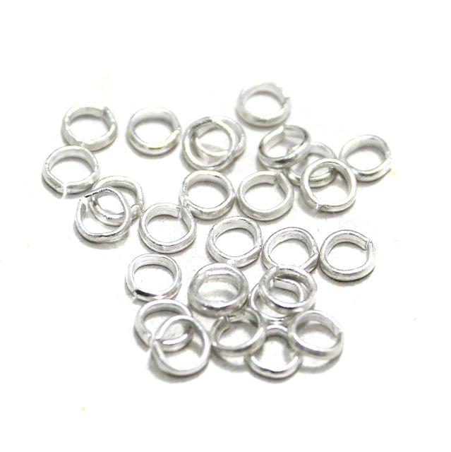1200 Pcs Brass Silver Jump Rings, Size 5mm