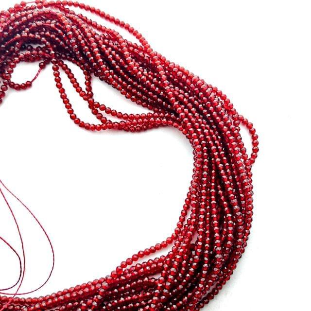 2 mm Dark Red Hydro Beads 5 Strands