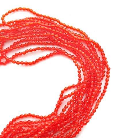 2 mm Hydro Beads Orange 5 Strands