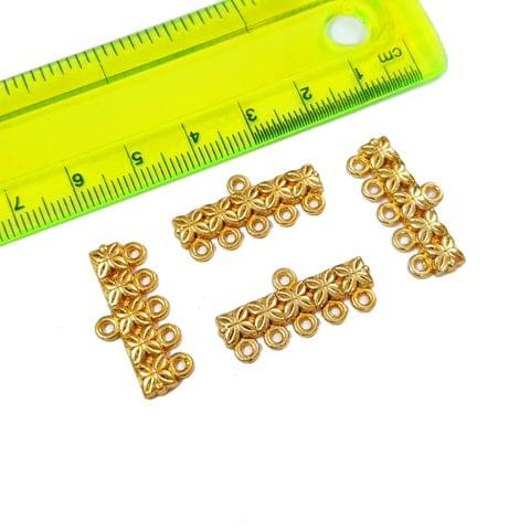 20pcs, 11x23mm AAA Quality Golden 5 line spacer