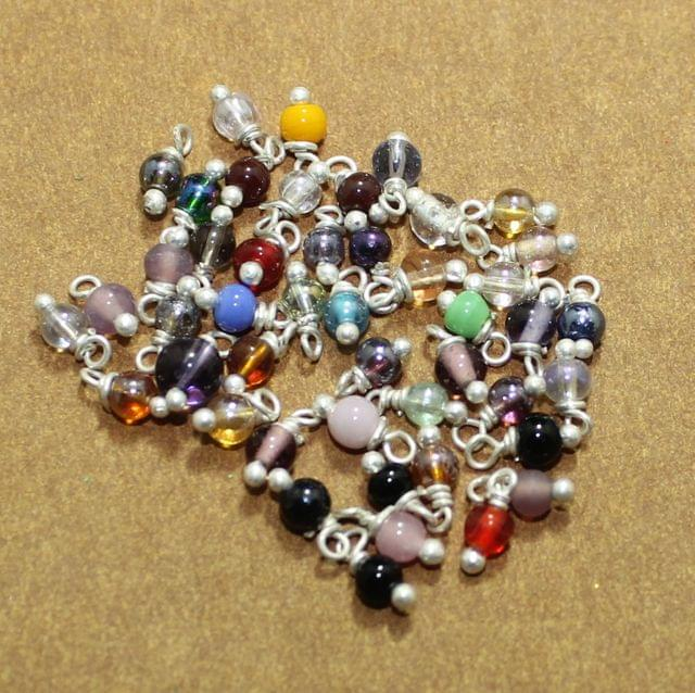 520 Pcs MultiColor Loreal Glass Beads 4mm