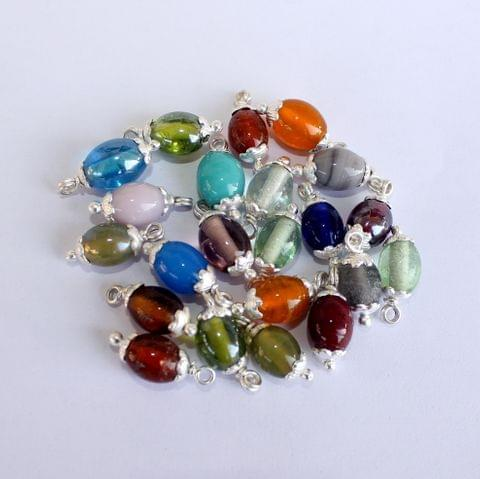100 Pcs MultiColor Loreal Oval Glass Beads 10x 8mm