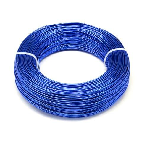 10 Mtrs Aluminium Colored Wire Blue 1mm (18 Gauge)