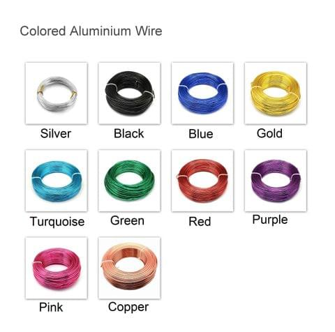 50 Mtrs Aluminium Colored Wire Combo 1mm (18 Gauge)